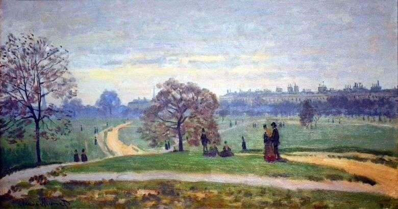 Hyde Park, Londres   Claude Monet