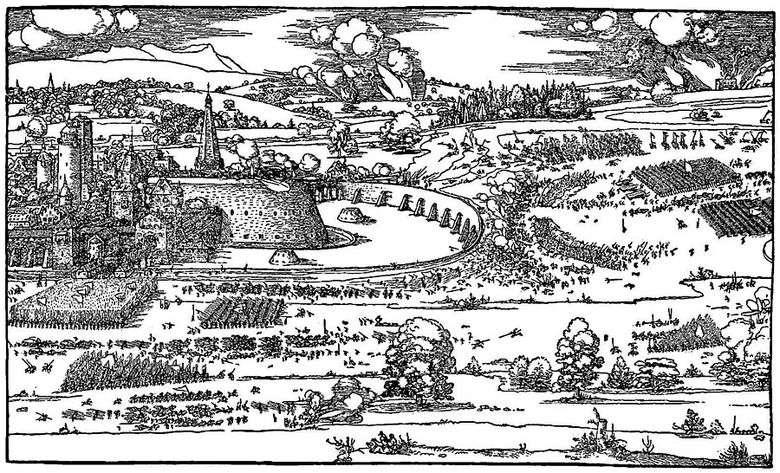 Ilustración del tratado Una guía para medir con una brújula y una regla   Albrecht Dürer