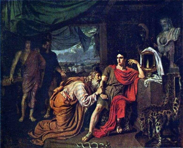 Príamo le pide a Aquiles el cuerpo de Héctor   Alexander Ivanov