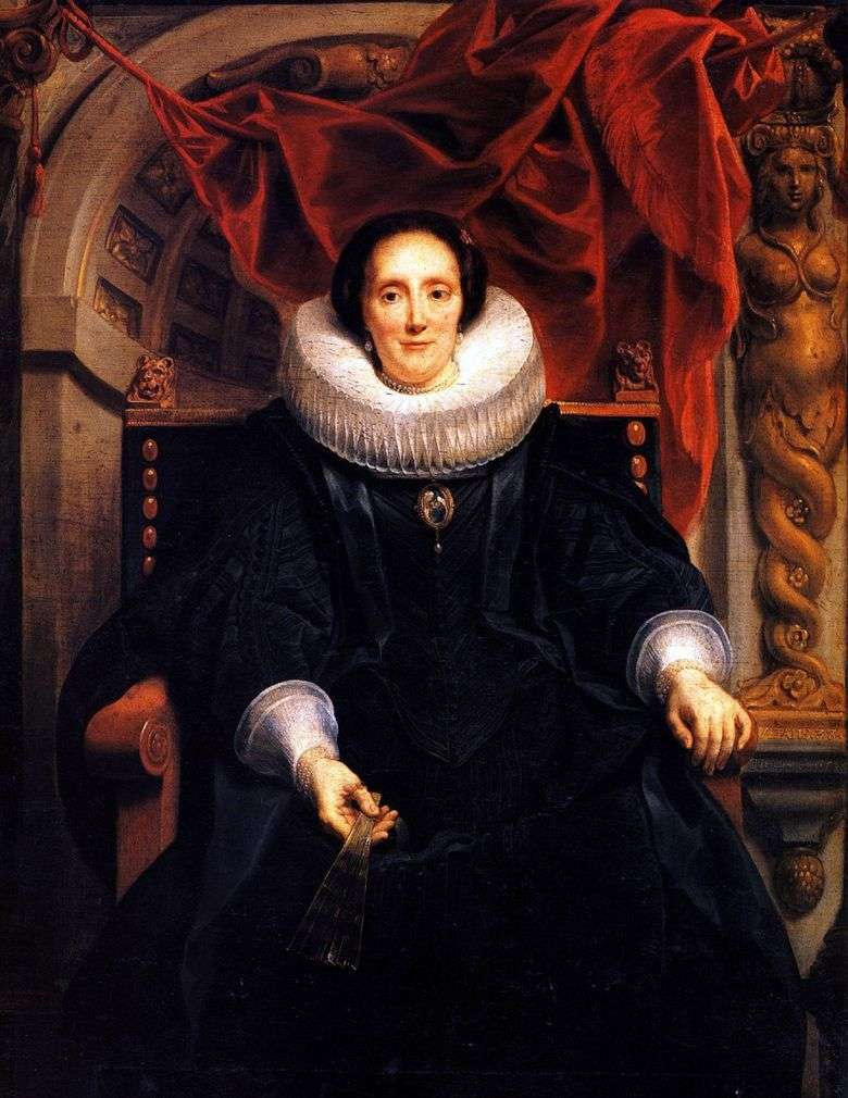 Retrato de Katharine Behagel   Jacob Jordaens