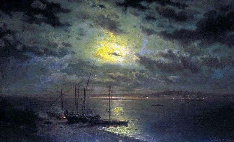 Noche de luna en el río   Lev Kamenev