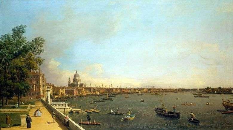 Vista del Támesis y Londres desde Somersethaus   Antonio Canaletto