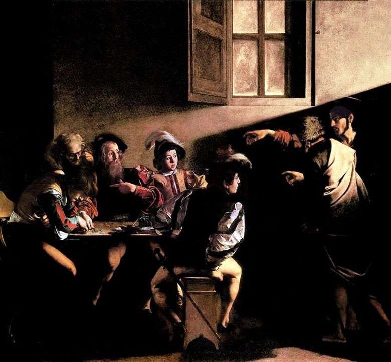 La vocación del apóstol Mateo   Miguel Ángel Merisi da Caravaggio