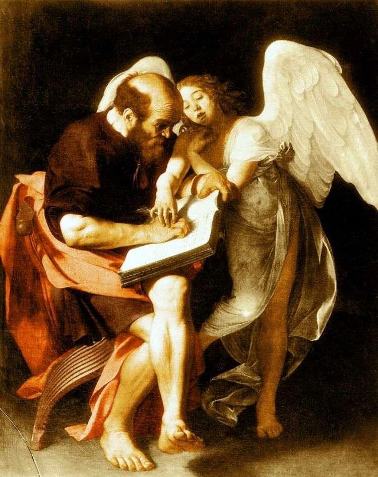 San Mateo y el ángel   Michelangelo Merisi da Caravaggio