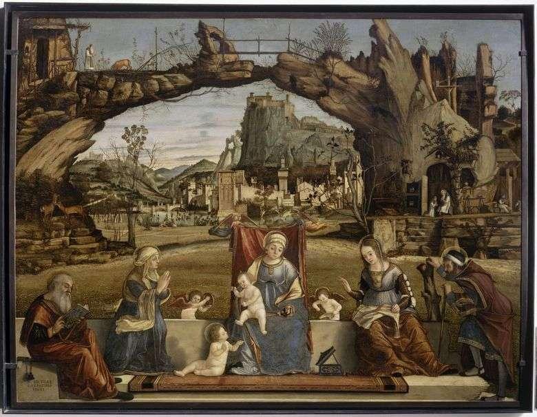 Madonna y el niño con los santos   Vittore Carpaccio
