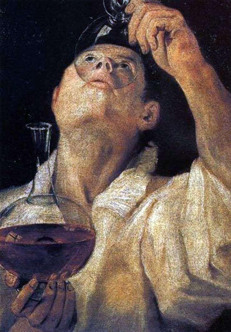 Retrato de un niño bebiendo   Annibale Carracci
