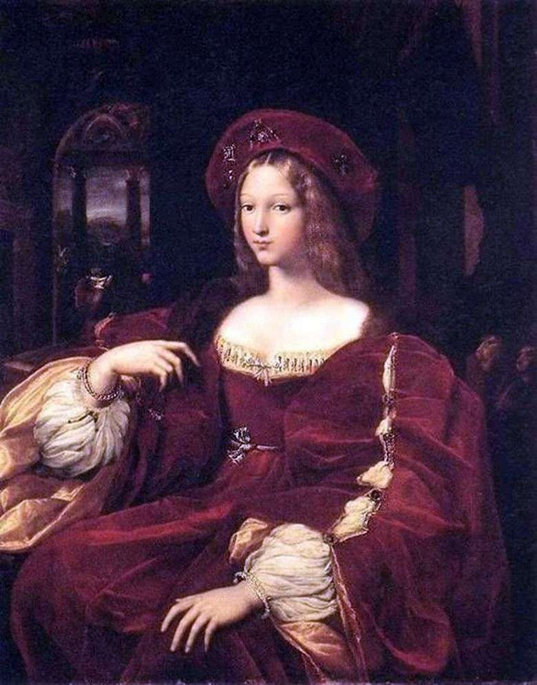 Retrato de Jeanne de Aragon   Rafael Santi