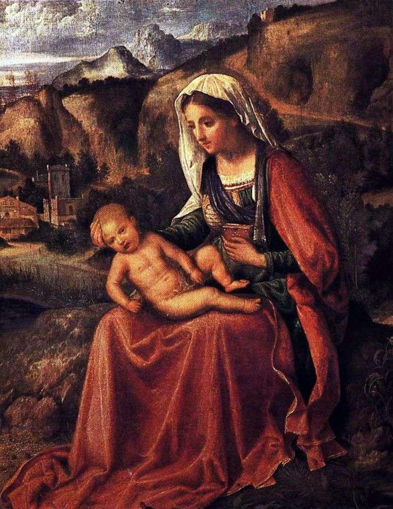 Virgen con el niño en un paisaje   Giorgione Barbarelli da Castelfranco