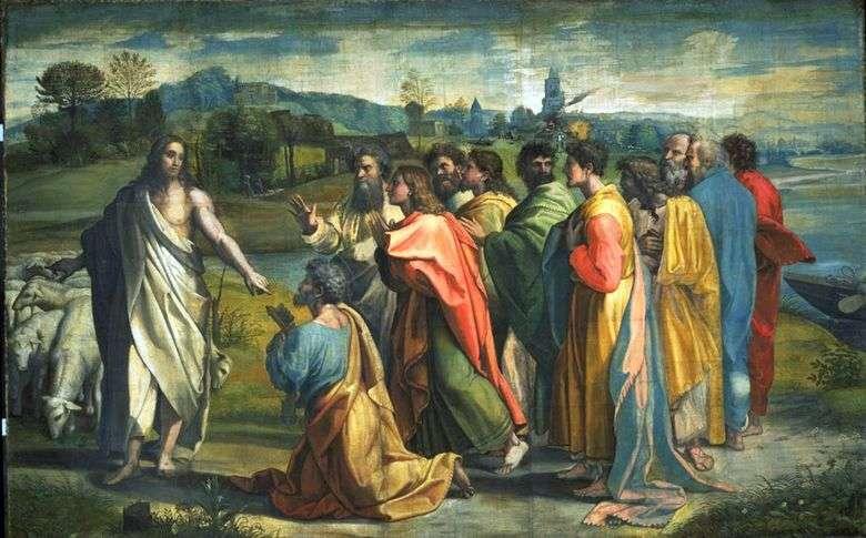 El llamado del apóstol Pedro por Cristo   Rafael Santi