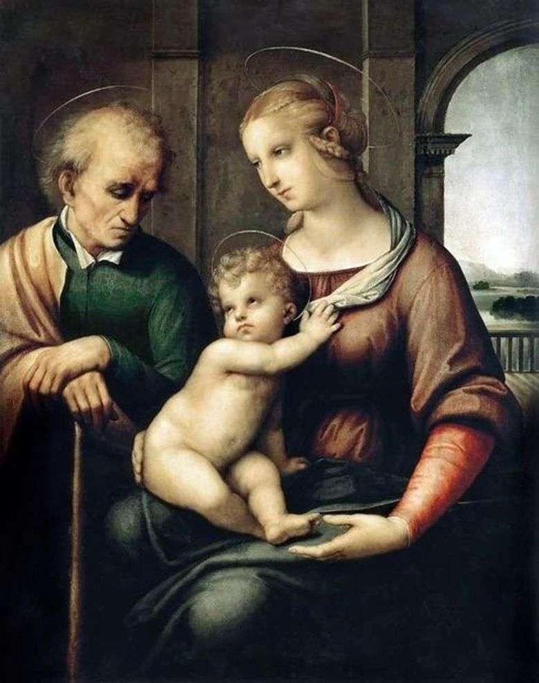 Sagrada familia o Madonna con el José sin oso   Rafael Santi