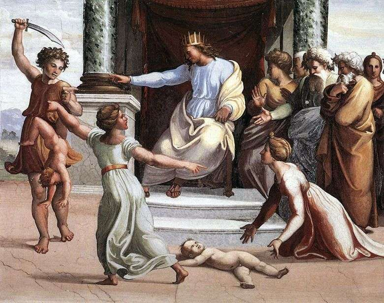 La corte de Salomón (fresco)   Rafael Santi