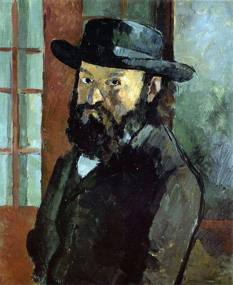 Autorretrato con un sombrero   Paul Cezanne