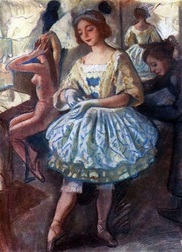Retrato de una bailarina E. A. Svekis en un traje de ballet Marioneta de hadas   Zinaida Serebryakova