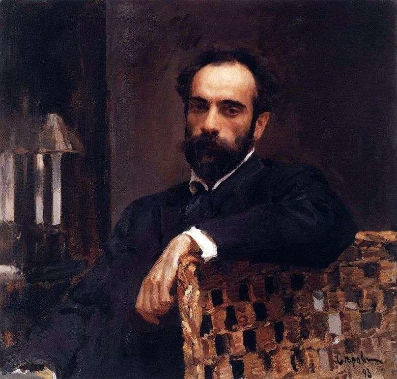 Retrato de I. I. Levitan   Valentin Serov