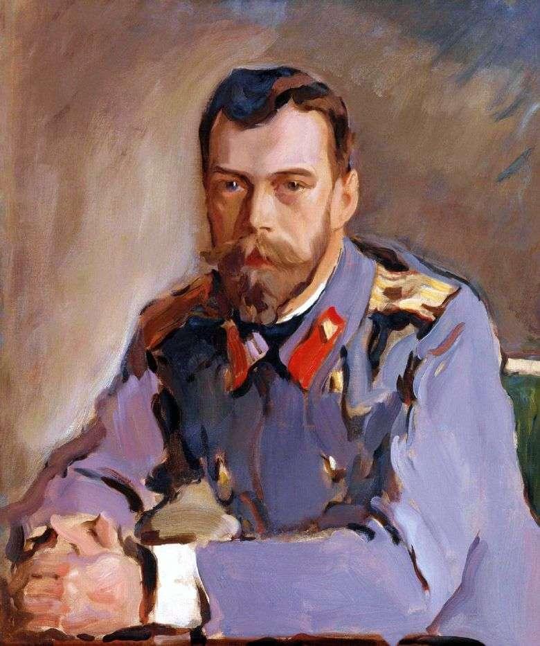 Retrato del emperador Nicolás II   Valentin Serov