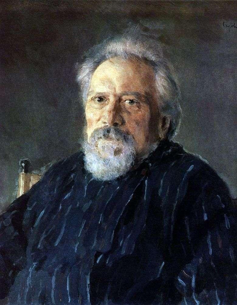 Retrato de N. S. Leskov   Valentin Serov