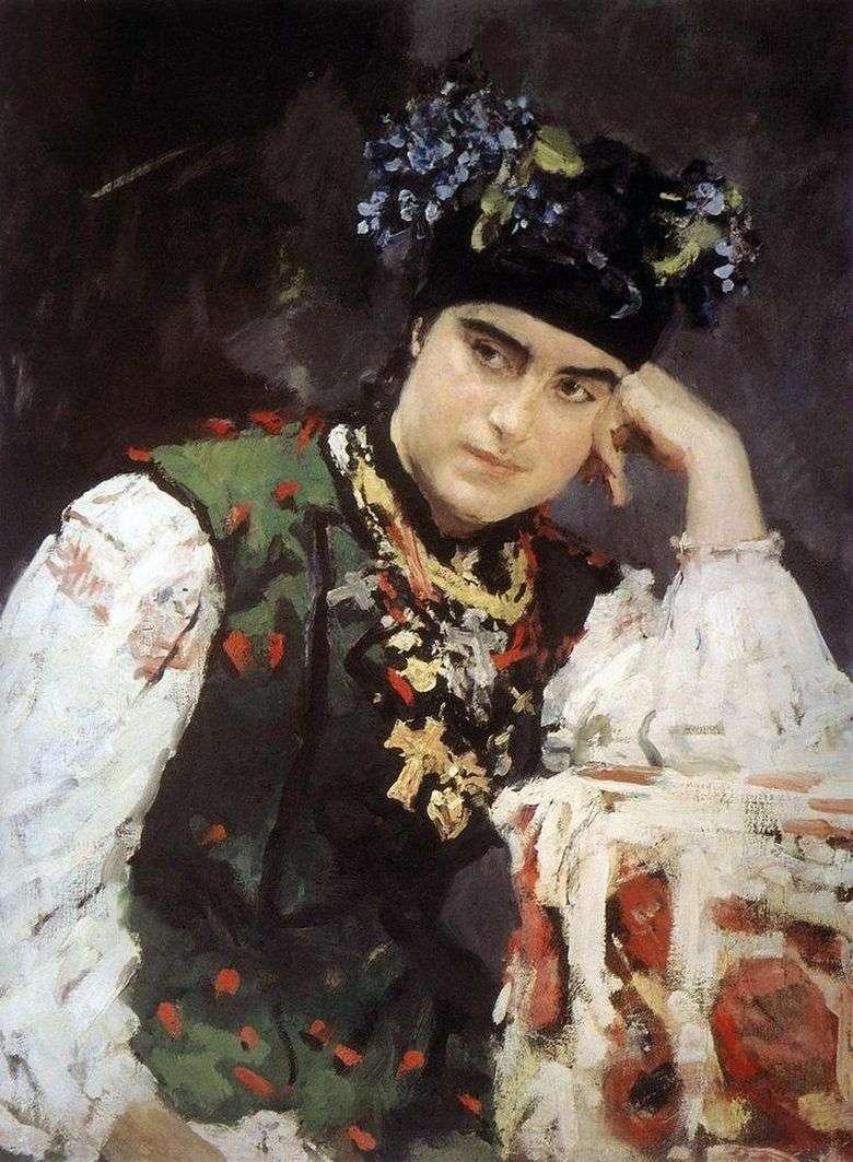 Retrato de S. M. Dragomirova   Valentin Serov