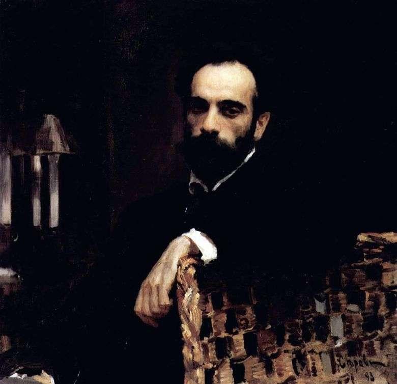 Retrato del artista I. I. Levitan   Valentin Serov