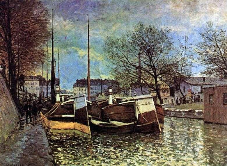 Barcazas en el Canal Saint Martin   Alfred Sisley