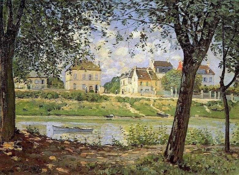 La ciudad de Villeneuve la Garenn en el Sena   Alfred Sisley
