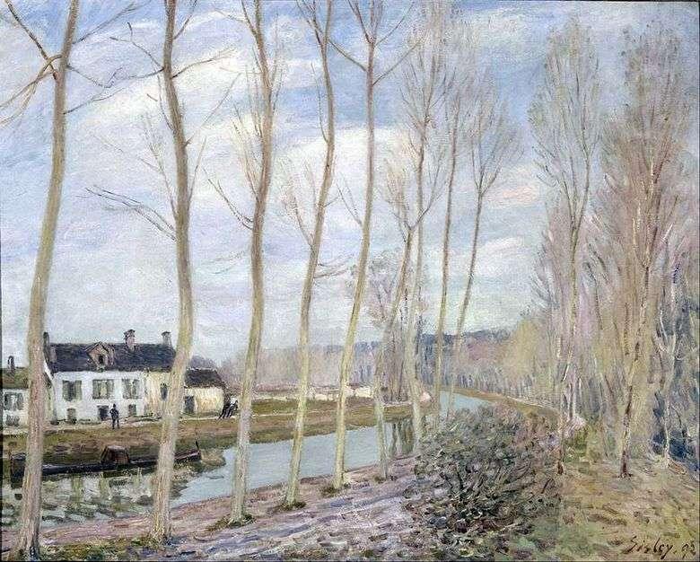 Canal de Luen en el mar   Alfred Sisley