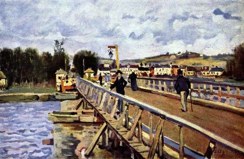 Puente en Argentee   Alfred Sisley