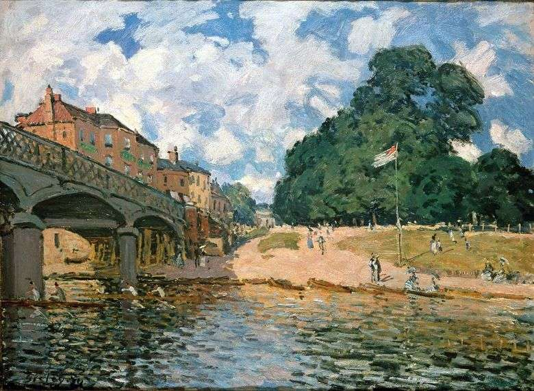 Puente cerca de Hampton Court   Alfred Sisley