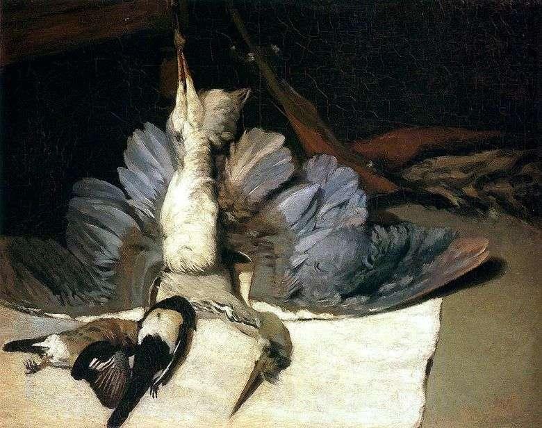 Naturaleza muerta con garza   Alfred Sisley