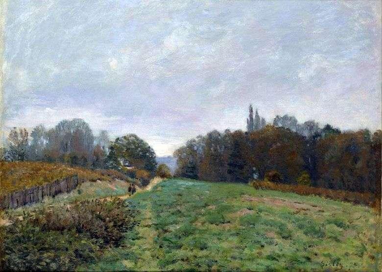 Paisaje en Louviennenne   Alfred Sisley