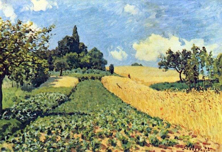 Campos de trigo en Argenteei   Alfred Sisley