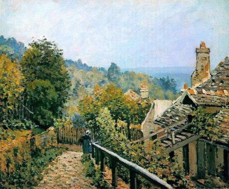 Sendero de jardín en Louviesen   Alfred Sisley