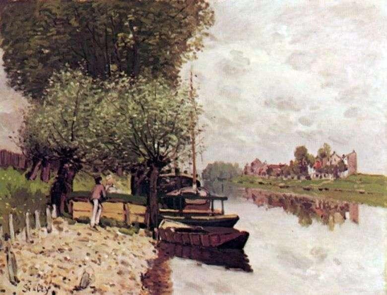 Sena cerca de Bougivalm   Alfred Sisley
