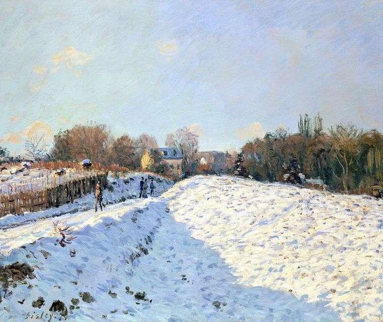 Nieve en Argenteei   Alfred Sisley