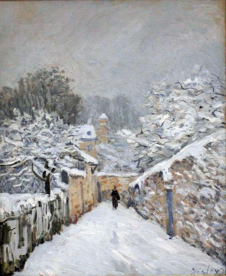 Nieve en Louviennenne   Alfred Sisley
