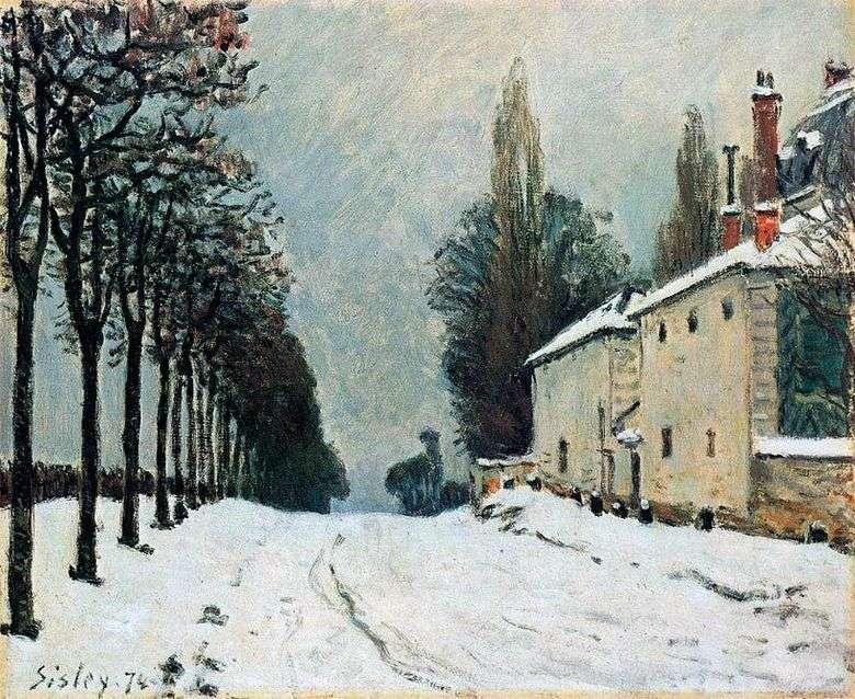 Rue de la Mashin Louvesien   Alfred Sisley