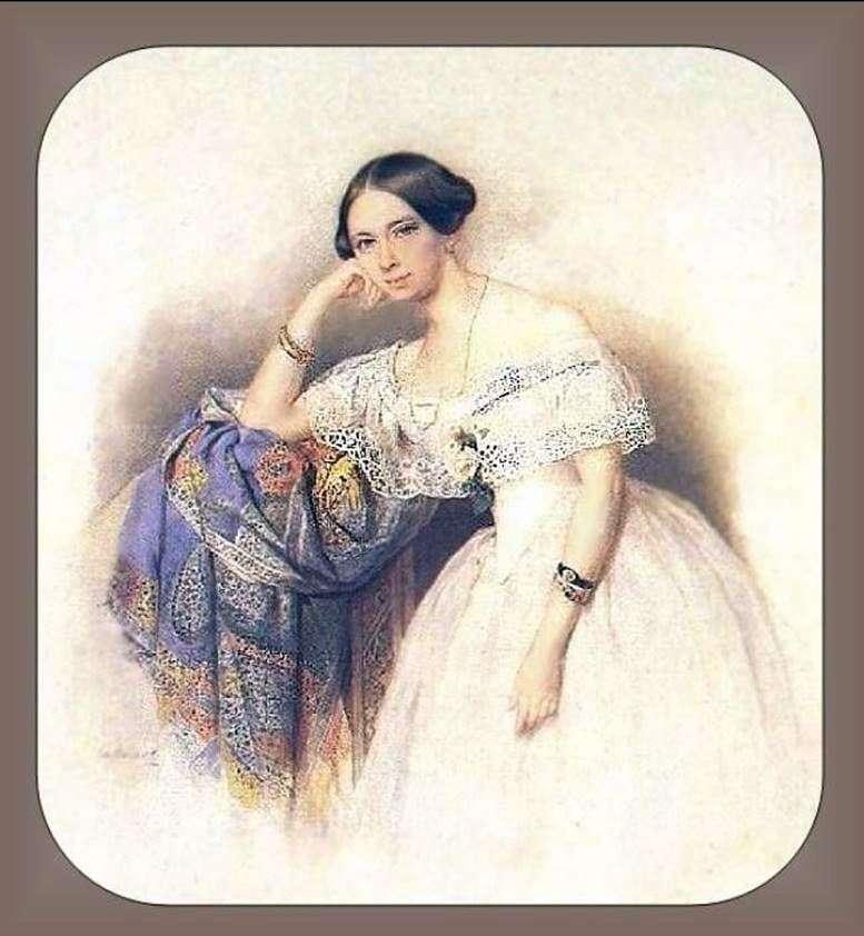 Retrato de A. S. Glinka Mavrina   Peter Sokolov