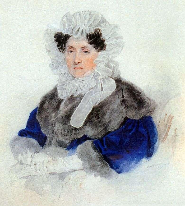 Retrato de E. A. Osterman Tolstoy   Peter Sokolov