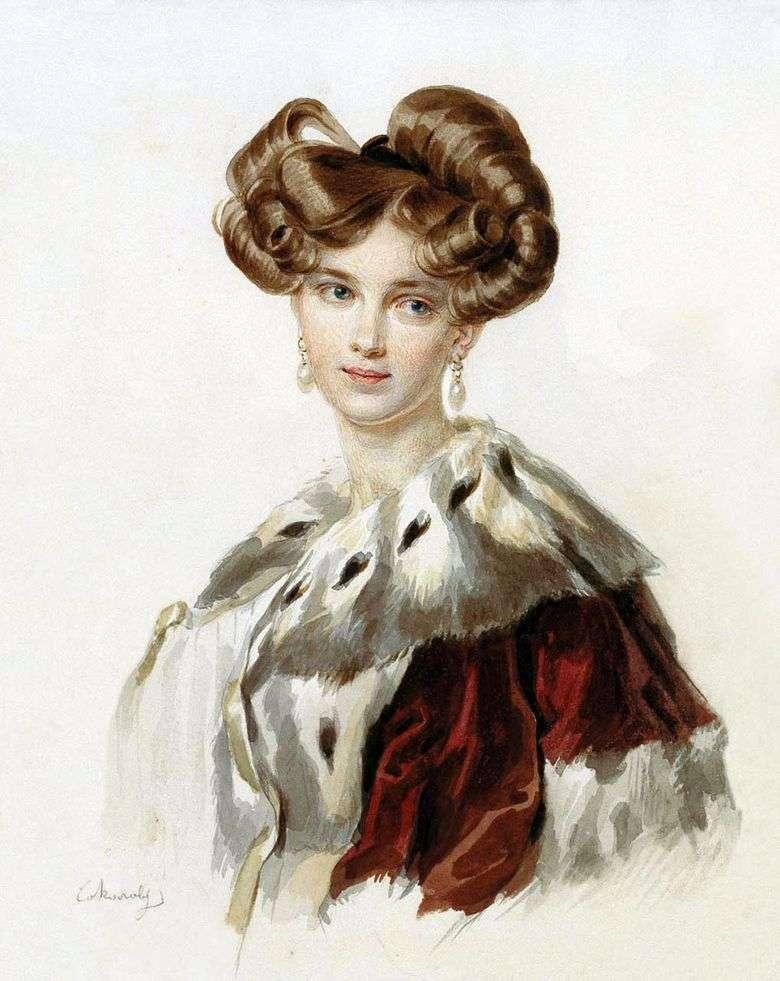 Retrato de Poletika Idalia Grigorievna   Peter Sokolov
