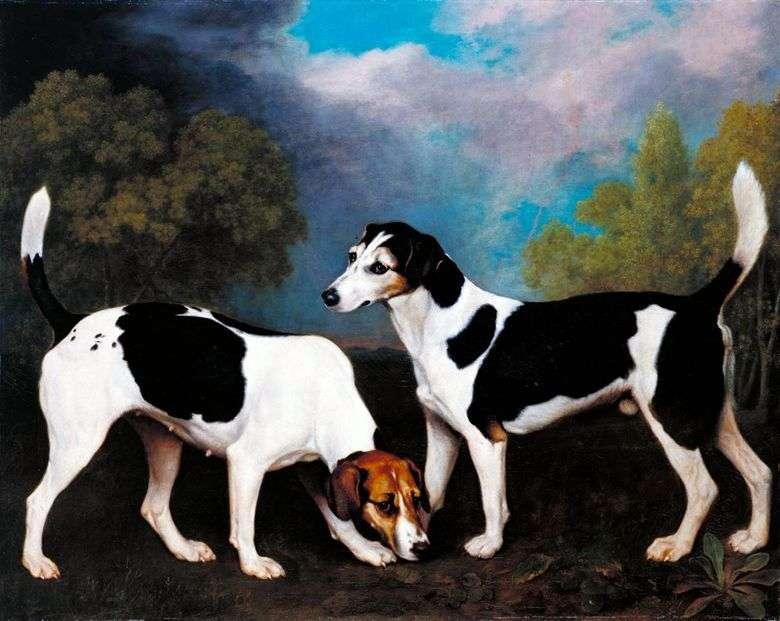 Paisaje con perros de caza   George Stubbs