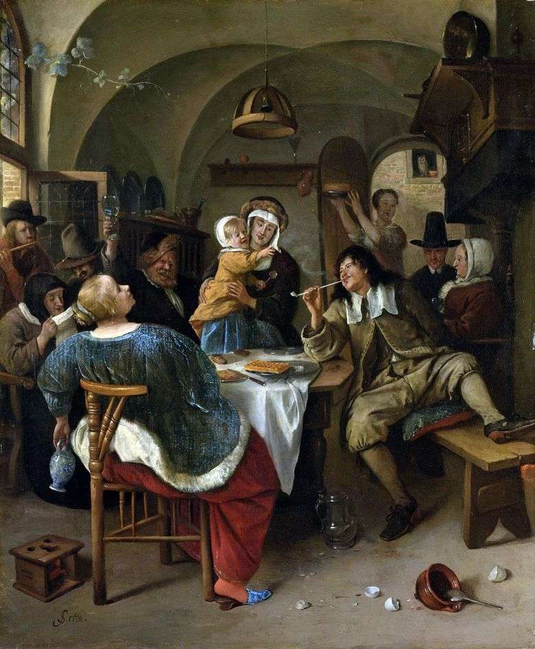 Fiesta familiar   Jan Steen