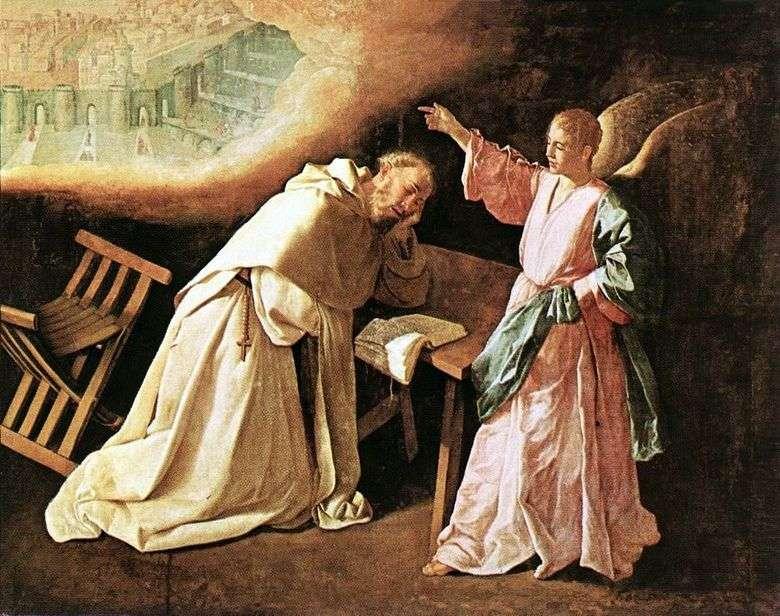 Visión de sv. Petra Nolasco   Francisco de Zurbarán