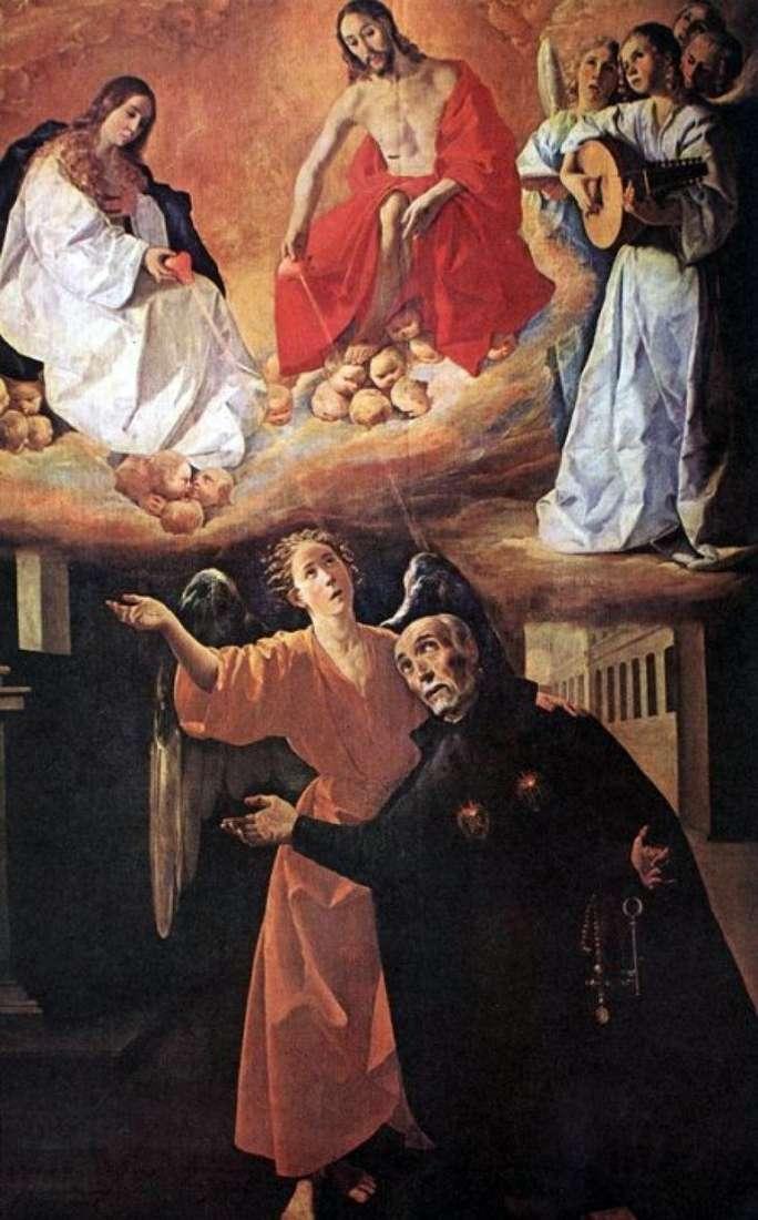 Visión de sv. Rodriguez   Francisco de Zurbaran