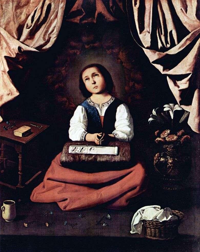 Madonna infantil   francisco de zurbarán