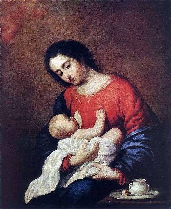 Madonna y el niño   Francisco de Zurbarán