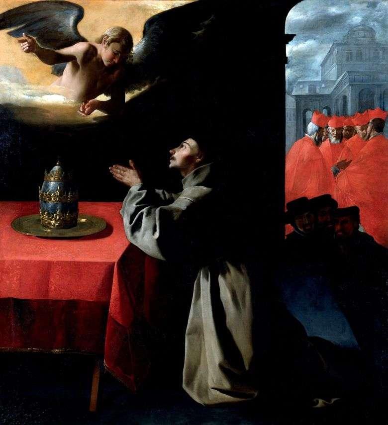 La Oración de San Buenaventura   Francisco de Zurbaran