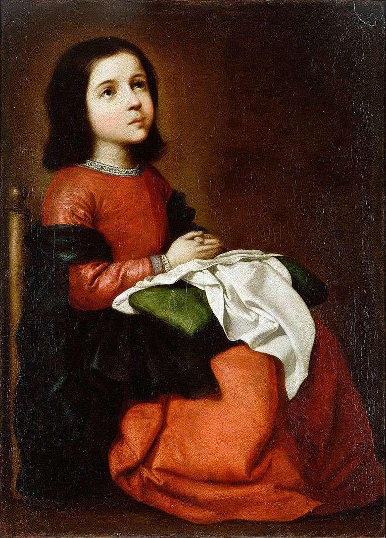 Adolescencia de Nuestra Señora   Francisco De Zurbarán