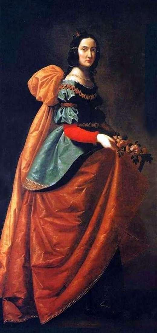 Santa Isabel de Hungría   Francisco de Zurbarán