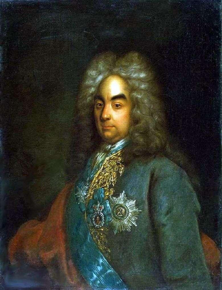 Retrato del conde Peter Andreevich Tolstoy   Johann Gottfried Tannauer