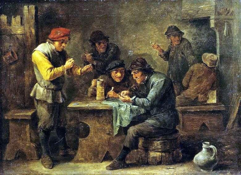 Campesinos jugando a los dados   David Teniers