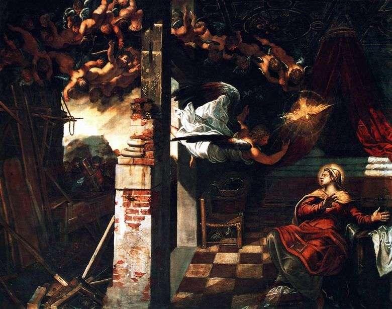 Anunciación   Jacopo Tintoretto